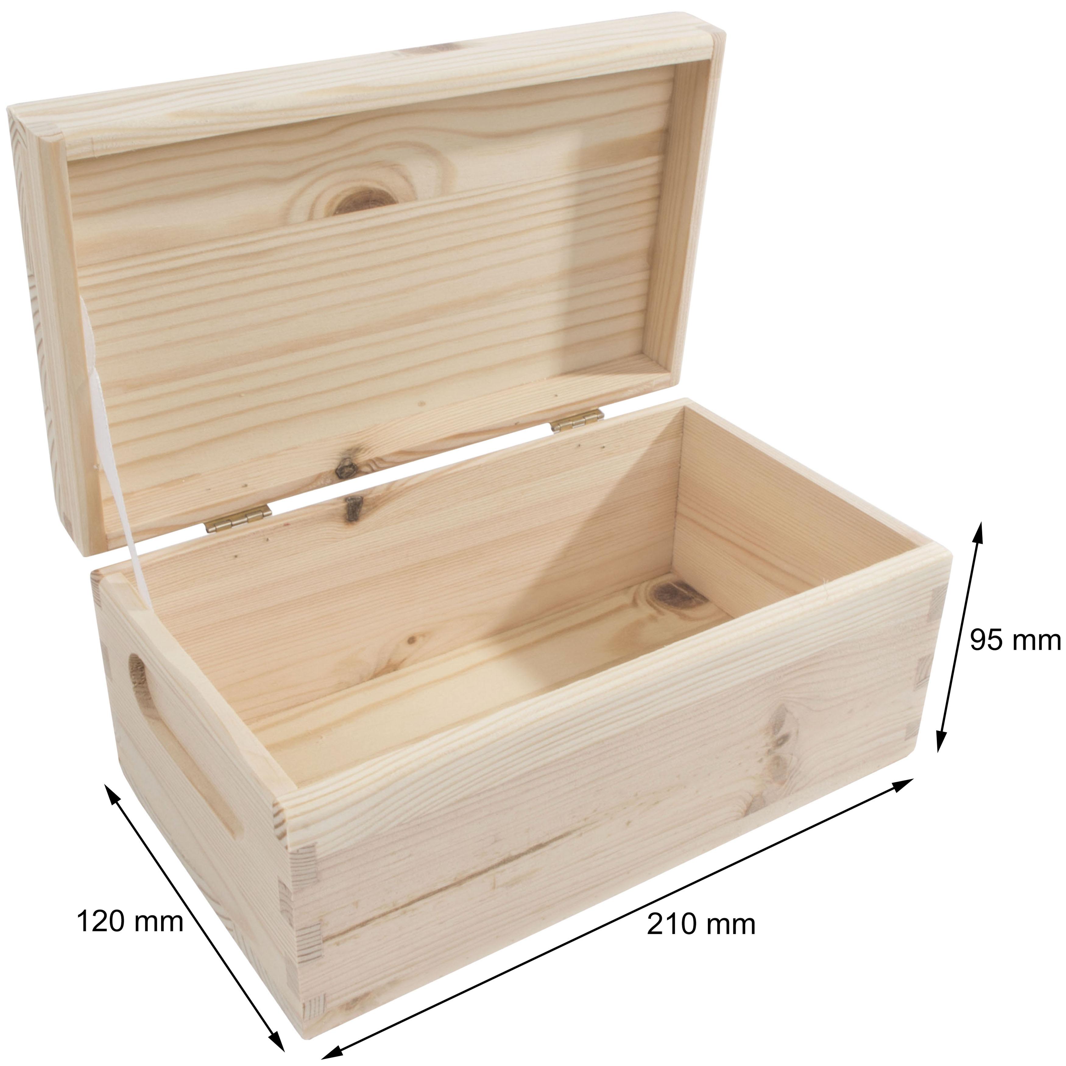 beautiful diy wood storage box with lid 9